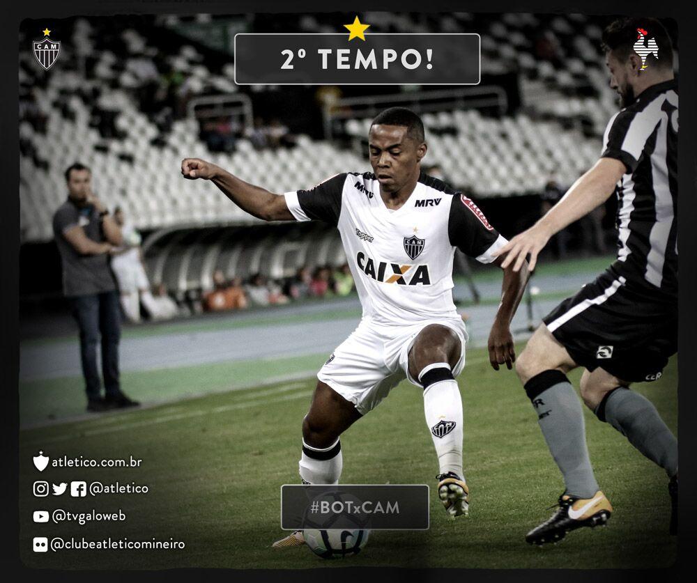 Começa o segundo tempo no Rio de Janeiro. Vamos, #Galo! #BOTxCAM