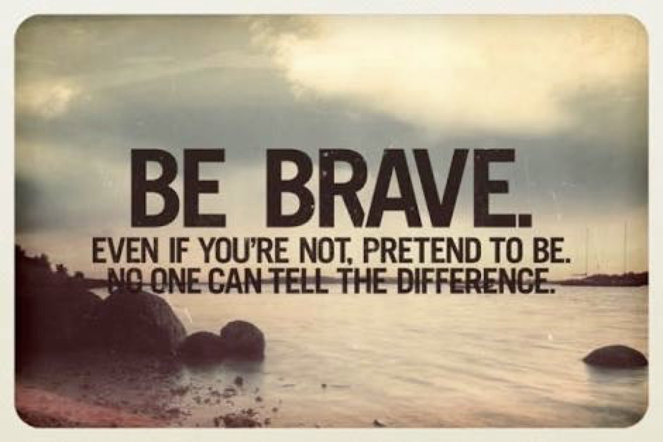 Be Brave! Even if the first  steps are taken in total Fear.  #Believe #ThursdayThought  #inspiration #Courage<br>http://pic.twitter.com/6B7NhTK25C