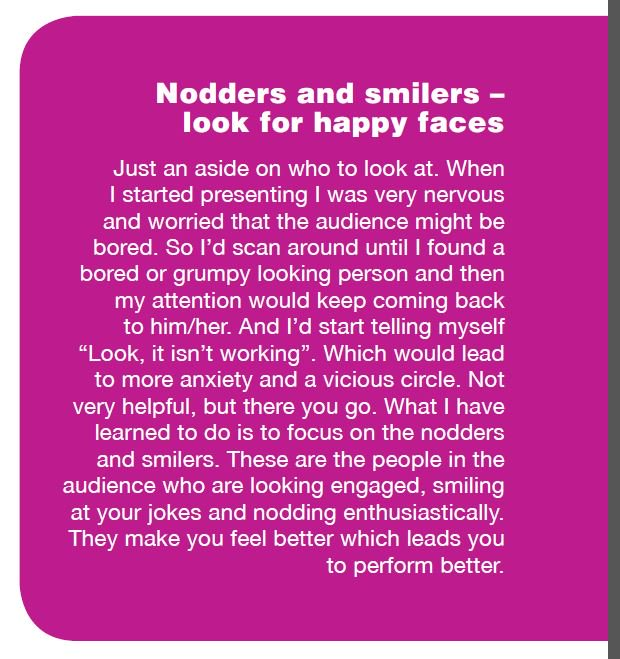 Look for the nodders and smilers if you&#39;re anxious about the audience?  They help you do better. #ECRchat #PhD  From  http://www. ithinkwell.com.au/ebooks/present ing-your-research-with-confidence &nbsp; … <br>http://pic.twitter.com/NZLlV2Zolx
