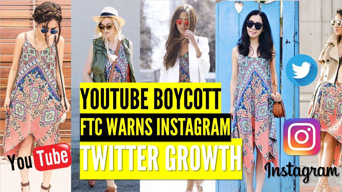YouTube Boycott, FTC Warns Instagram Celebrities and Twitter Growth https:// youtu.be/CzHrBdcX1y0  &nbsp;   #marketing #digitalmarketing #smm<br>http://pic.twitter.com/kVRDtkJOAN