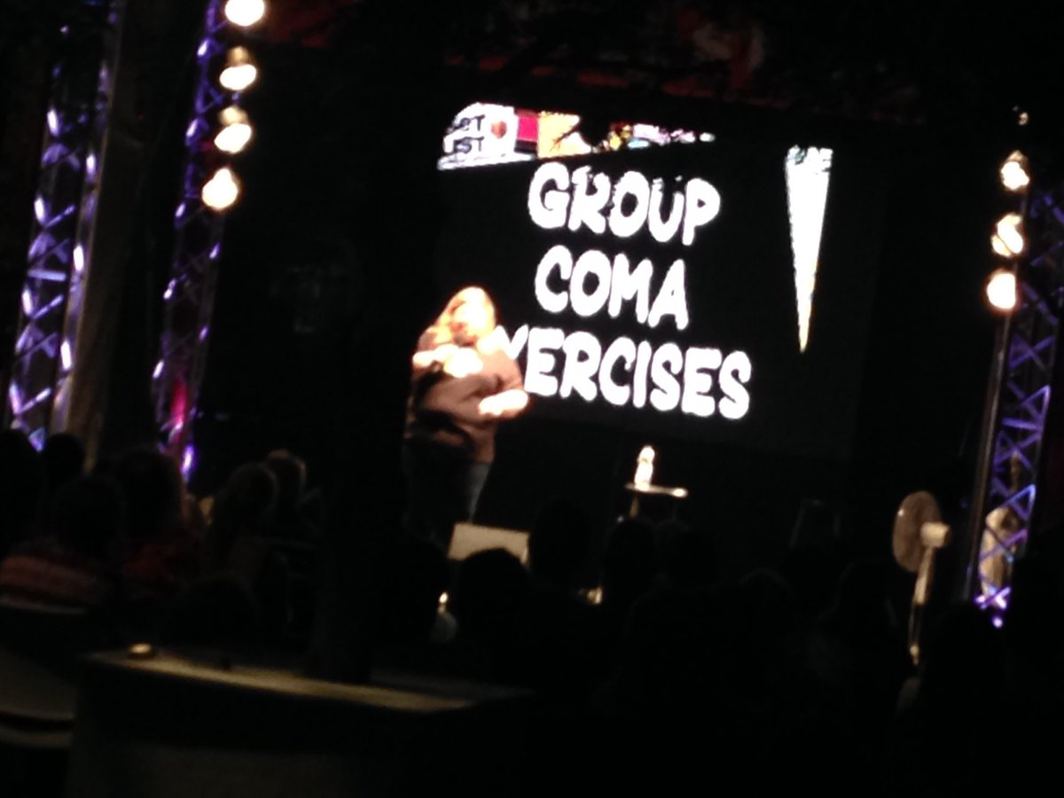 #Montreal @justforlaughs @SETLISTSHOW &quot;It&#39;s based on the Mexican exercise program called the  &#39;Siesta&#39;&quot; - @UrzilaCarlson<br>http://pic.twitter.com/lrW9rrA5q0