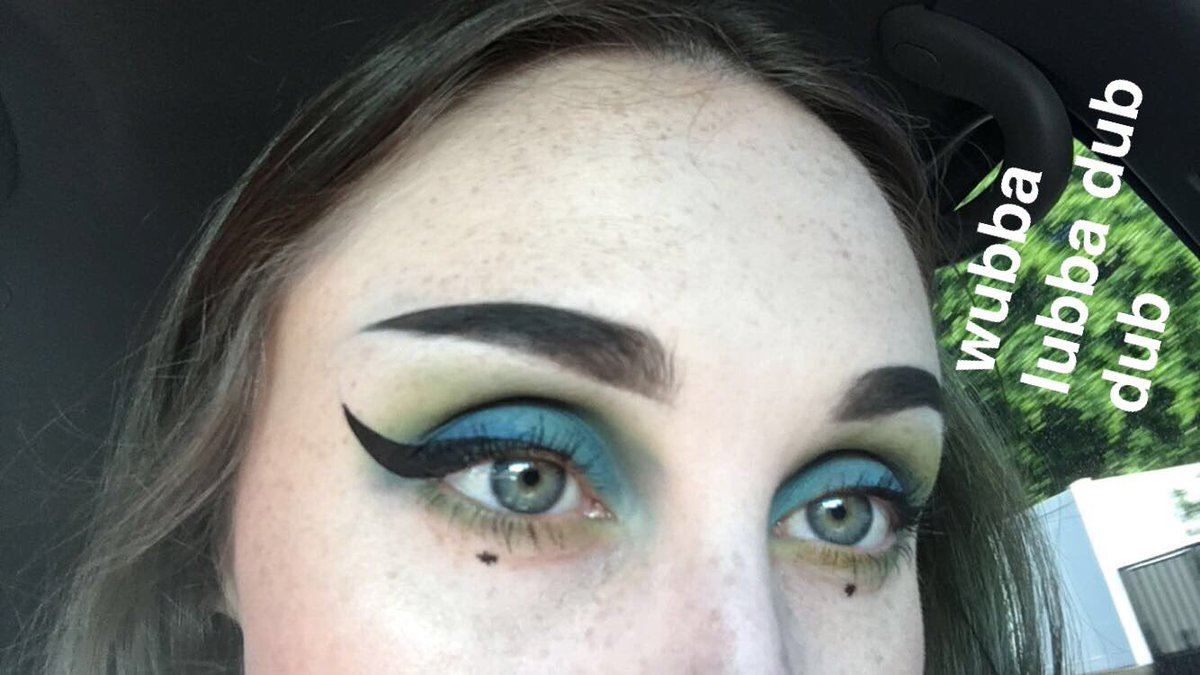 Rick and morty makeup
