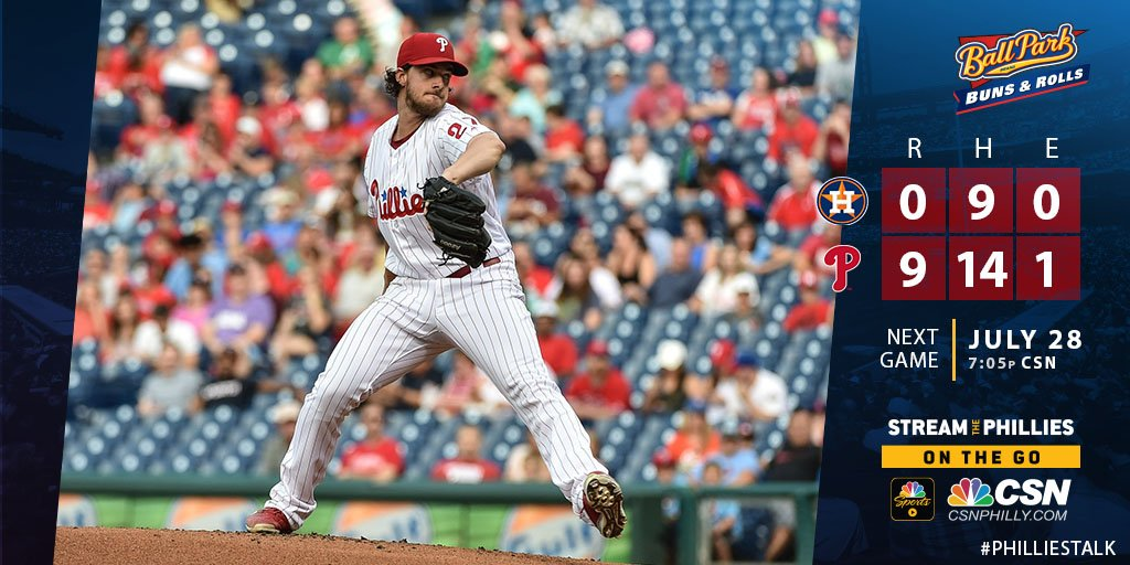 Nola racked up 10 strikeouts and Rupp hit two homers as their career nights powered the Phillies to a shutout of the Astros. #BallParkBuns