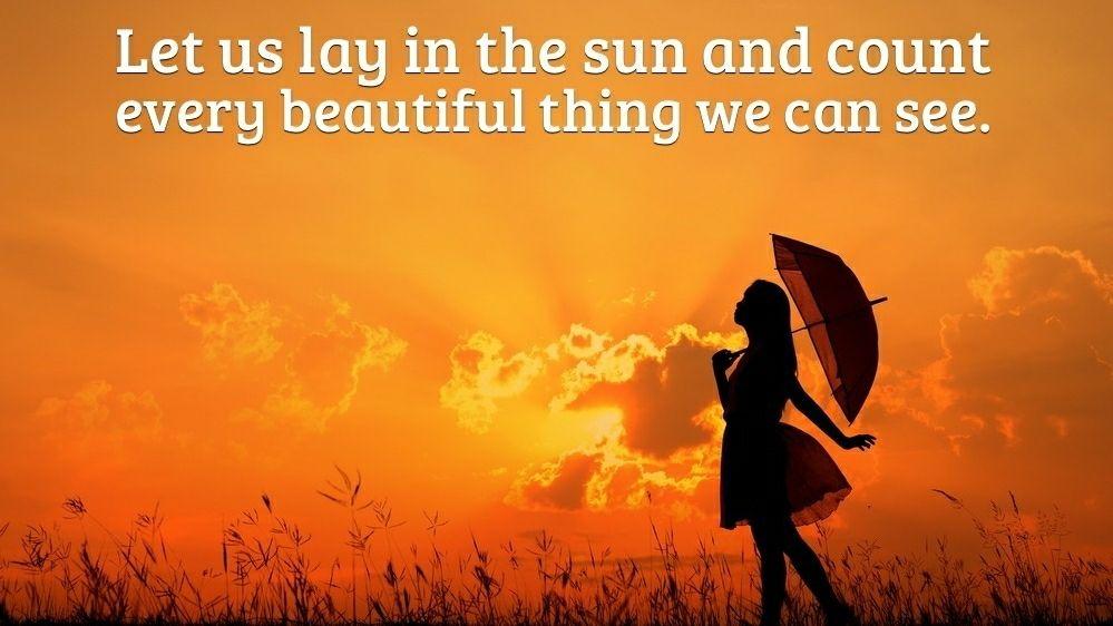 Let us lay in the sun... #Mindfulness #meditation #gratitude <br>http://pic.twitter.com/vWtvQBjXXl