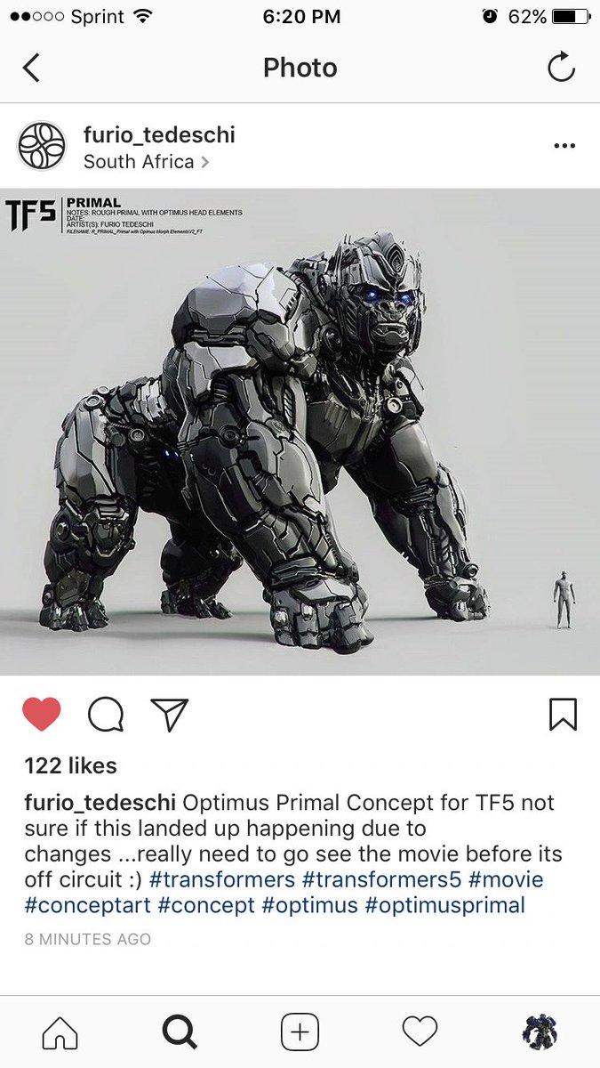Optimus Primal Concept Art for The Last Knight https://t.co/SHtAlq24Ee #transformers https://t.co/9L4Kbjs7Q6