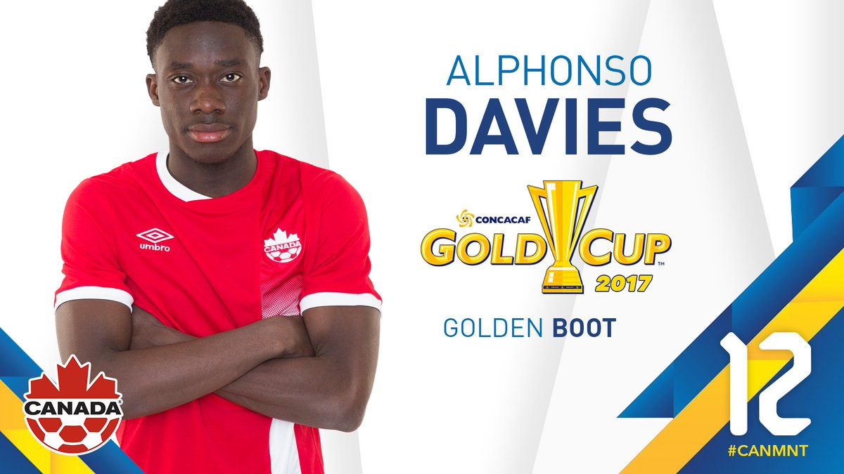 Alphonso Davies also wins the Golden Boot at #GoldCup2017  #Can   #CANMNT<br>http://pic.twitter.com/MjX6wtY0YR