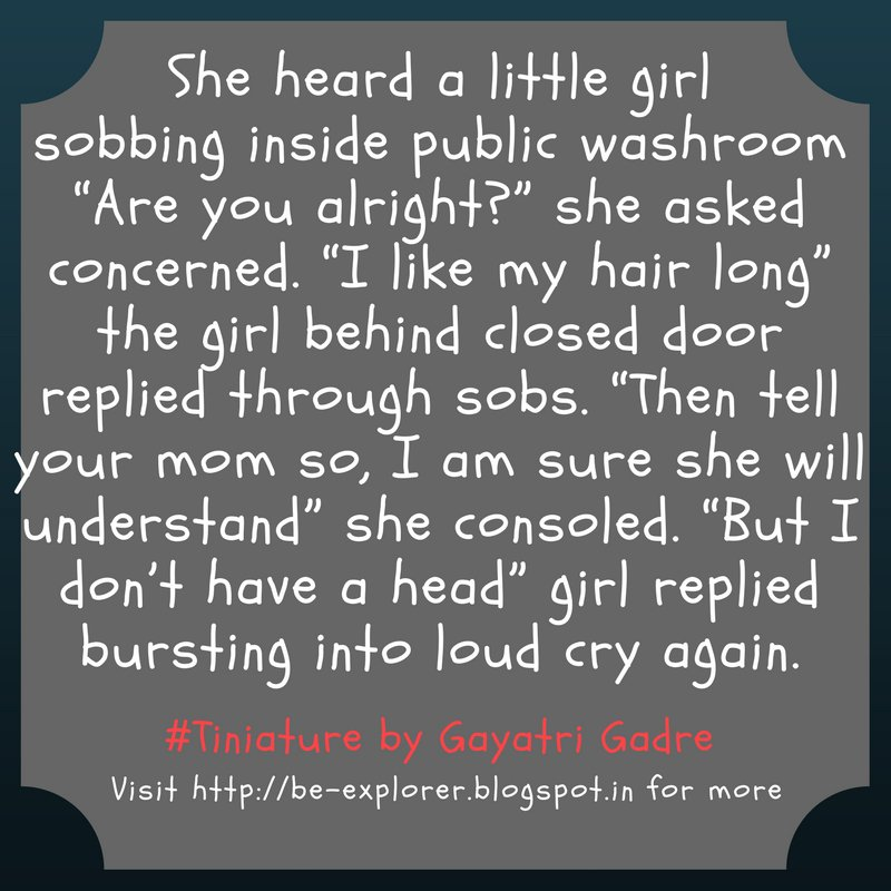 #Tiniature.  To participate- 1.RT 2.reply with ur #TinyStory 3.use #Tiniature #tinystories #microstories #tinytales #amwriting #BeingAuthor https://t.co/Y866w2R82l