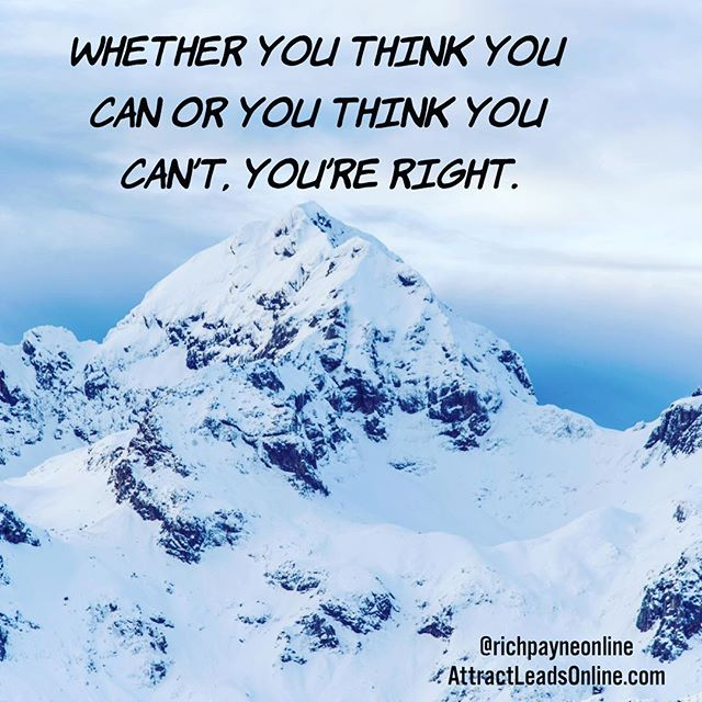 Whether you think you can or you think you can&#39;t, you&#39;re right. #quotes #mindset <br>http://pic.twitter.com/lLMoxJYDQU