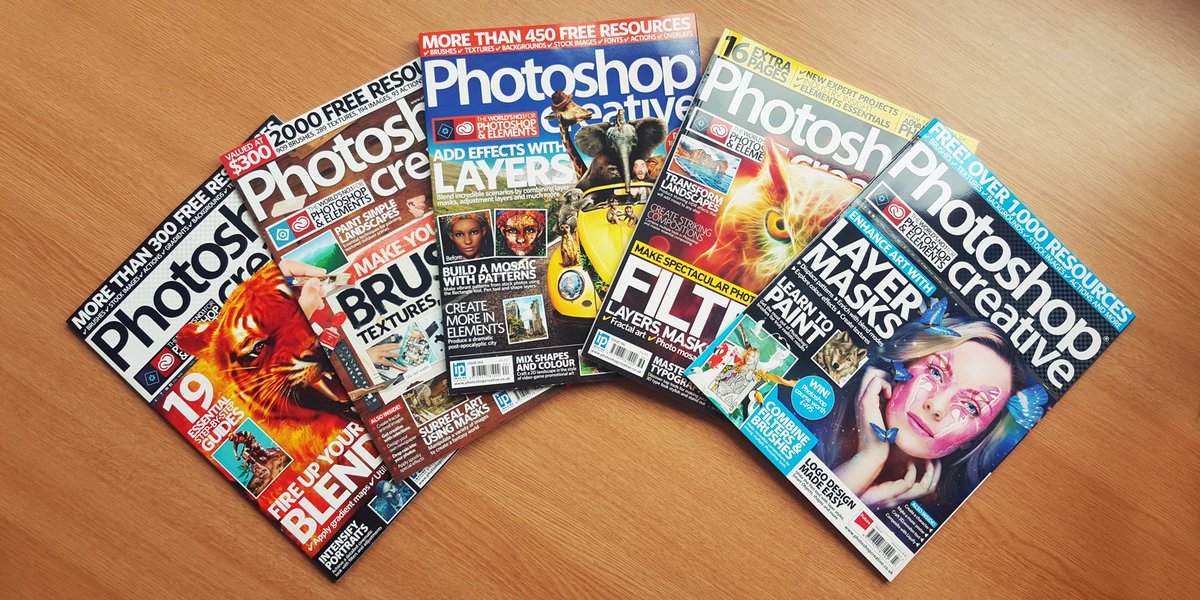 #GIVEAWAY!  RT and follow to #WIN a past copy of Photoshop Creative - five winners will be picked next week! https://t.co/uRx23HRQZ0