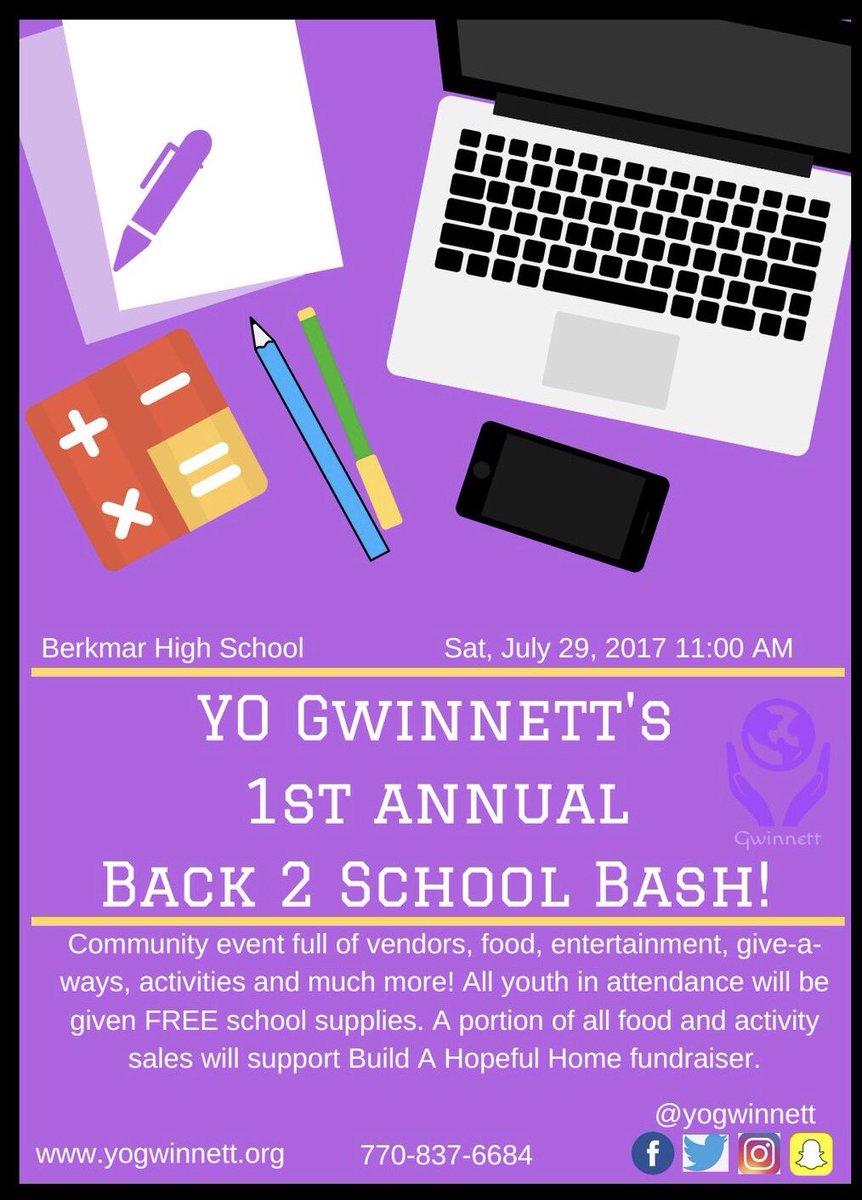 Come see us this Sat at @YOGWINNETT&#39;s #Back2School Bash! <br>http://pic.twitter.com/RnPRvhgfFr