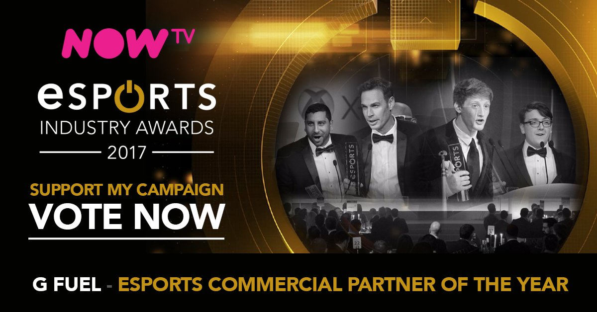 """We've been nominated as a Finalist in @esportsIA's """"Commerical Partner of The Year"""" category! Vote for us below!  https://t.co/EMT2FpV6TV 🏆 https://t.co/7oa3hmqfoa"""