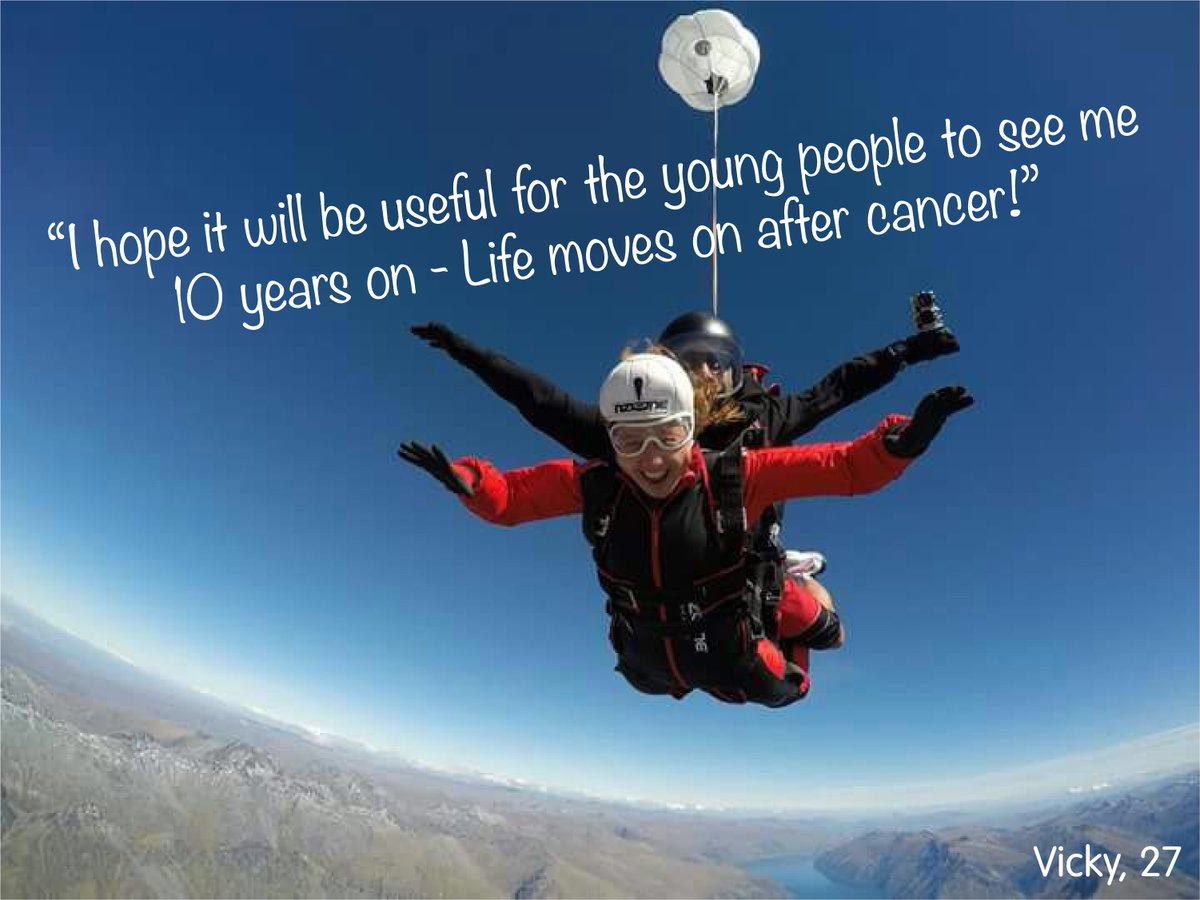 A huge #TBT shout out to Vicky who recently celebrated 10 YEARS since finishing treatment & 1st sailing with the Trust #skydive #tell9people