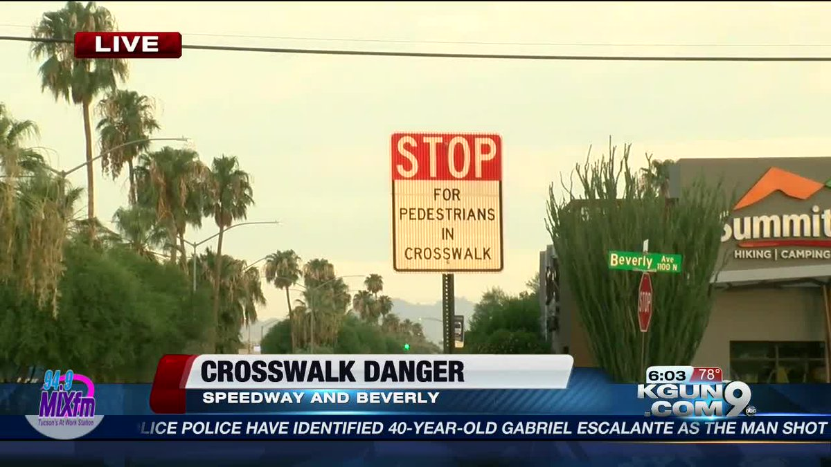 DANGEROUS INTERSECTION: @KGUNCarlos tells you about an effort to get a hawk light at Speedway and Beverly. https://t.co/LHC6EwcGAo