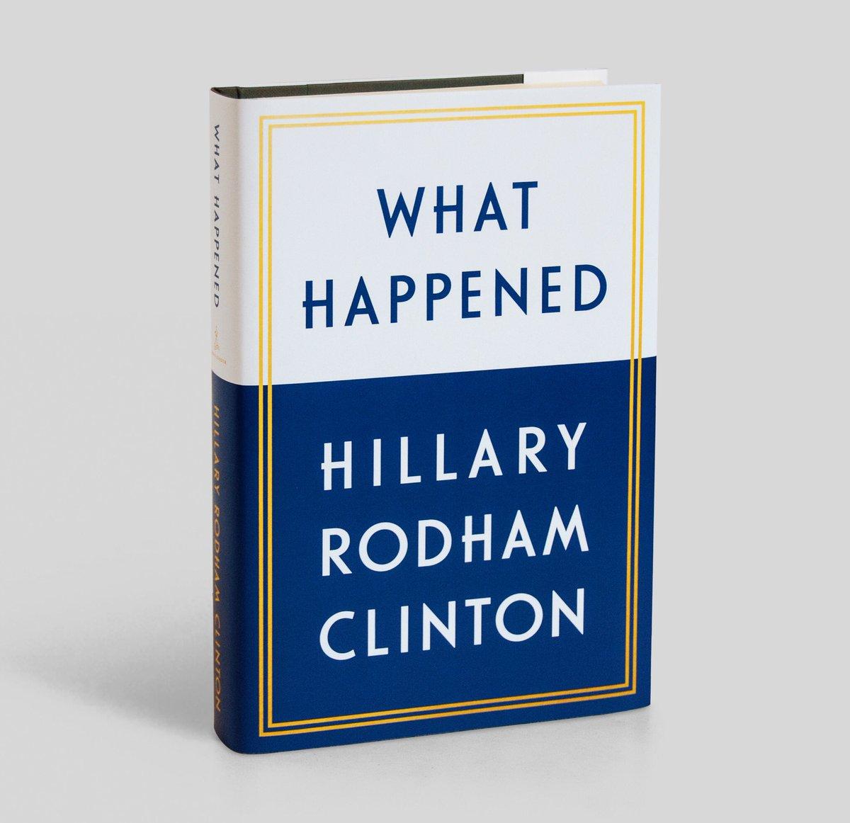 Hillary Clinton's memoir, 'What Happened,' hits shelves in only a few weeks https://t.co/b9jWCx6ZFd https://t.co/3sy7XAhT91