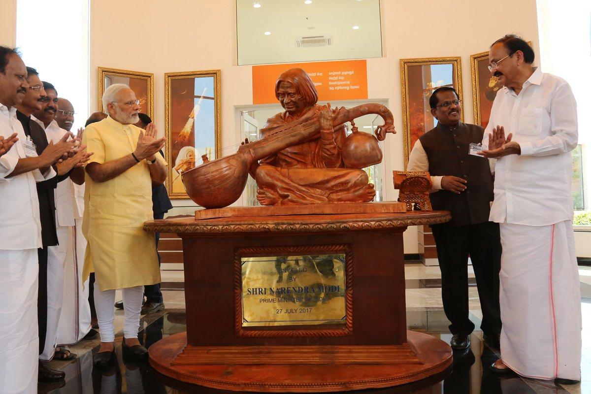 Honoured to inaugurate a memorial for Dr. APJ Abdul Kalam at Rameswaram. https://t.co/YSTmIxquW2