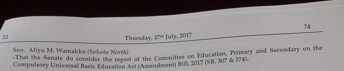 Welcome to a new Legislative day in the Senate. Senate President Bukola Saraki takes the official prayer, leads the chamber into today's proceedings.