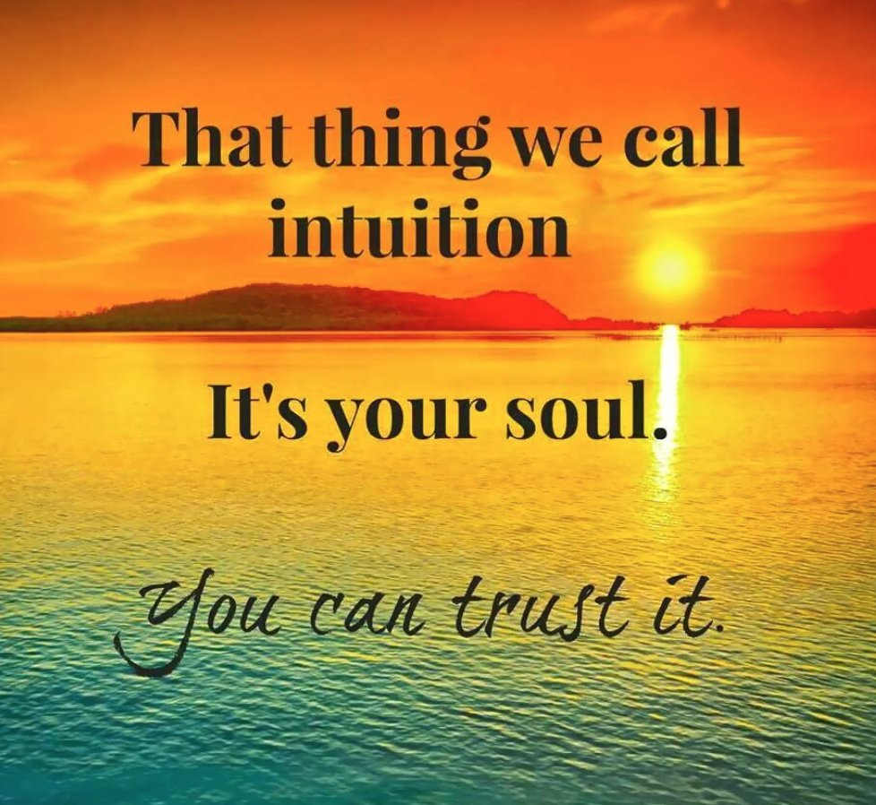 That thing we call #intuition. It&#39;s your #soul. You can #trust it!  #Mindful #Gratitude #Peace #Love #Mindfulness #Courage<br>http://pic.twitter.com/wuEPF4SjDh