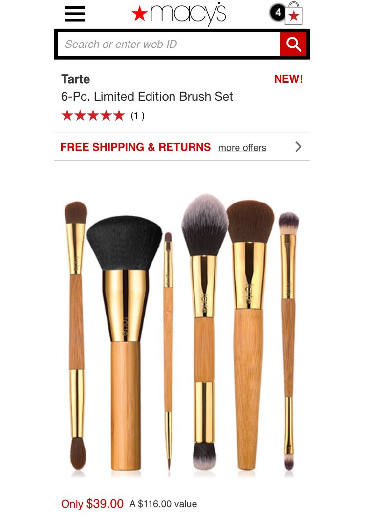6-Pc. Limited Edition Brush Set by Tarte #8