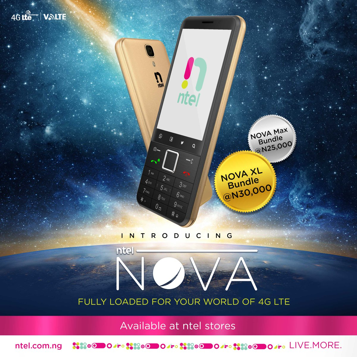 Get an ntel NOVA phone and enjoy the most advanced 4G network in Nigeria #ntelNOVA #VoLTE #4G   http://www. ntel.com.ng  &nbsp;  <br>http://pic.twitter.com/PYYCdNZHRo
