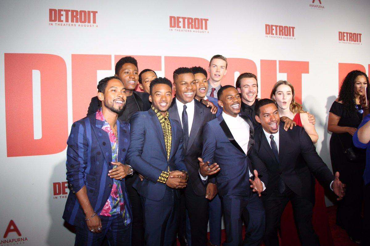 John Boyega, Anthony Mackie, Algee Smith, and the Detroit cast