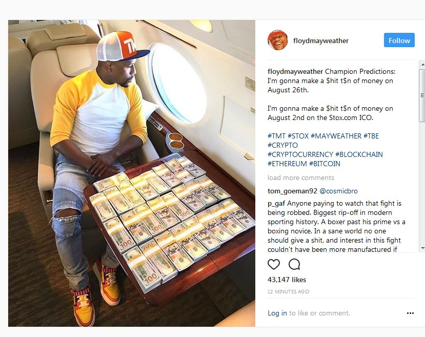 🚨🚨🚨 Floyd Mayweather is promoting an ICO 🚨🚨🚨 https://t.co/yX1wJUTrc5