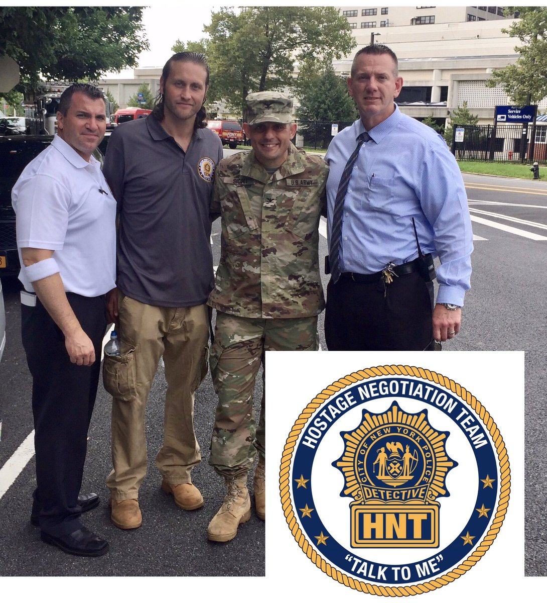 Our elite Hostage Negotiation Team & other NYPD units participated today in an interagency drill at Fort Hamilton  #NYPDprotecting@USArmy
