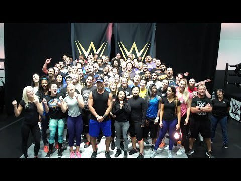 The WWE Performance Center roster sings Happy Birthday to TripleH