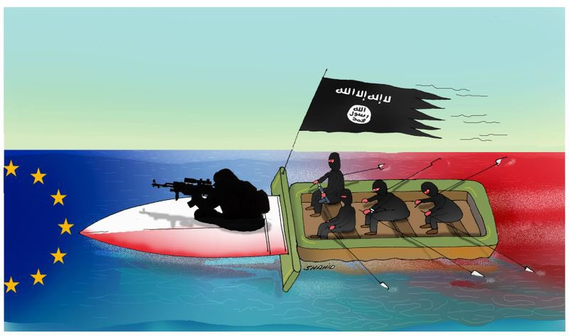ISS on the way to Europe!#Europa #terroriste #EU #HumanRights #UN #Peace @TKartoons @toonsmag @PolToons @procartoonists<br>http://pic.twitter.com/saCKVQUIbf