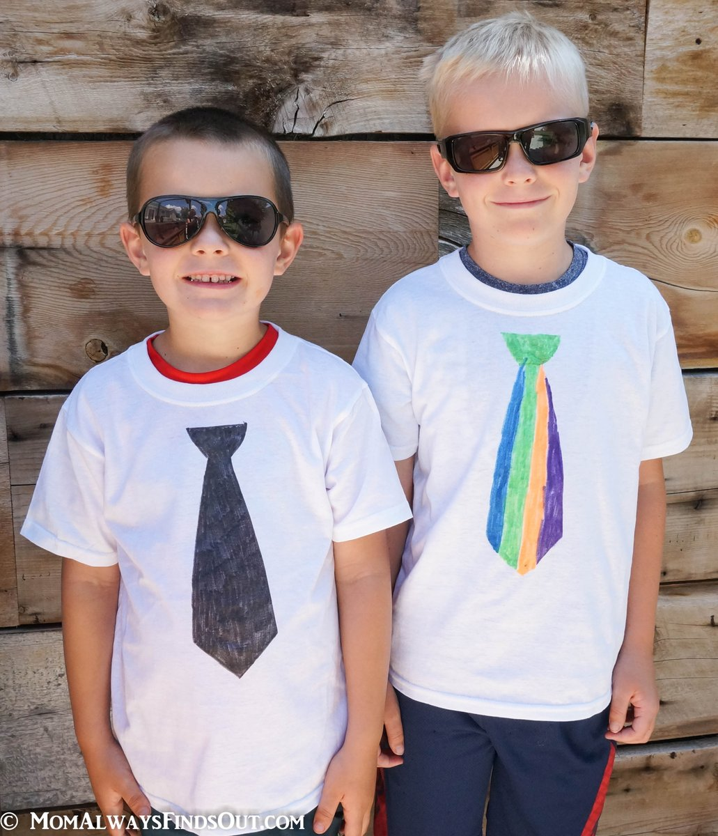 Kids love to color #DIY Necktie T-shirts! #ad Check out our #LikeABossBaby #Craft at  http://www. momalwaysfindsout.com/recipe/the-bos s-baby/ &nbsp; …  #TheBossBaby #MovieNight<br>http://pic.twitter.com/vG2sUSpAUp