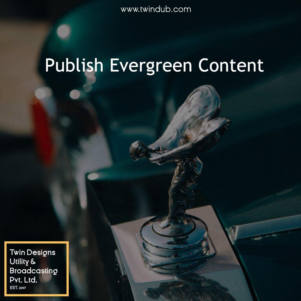 Publish #evergreen #content. #socialmediabranding #marketing #smallbusiness #businessowner #entrepreneur #startupbusiness #startup #company<br>http://pic.twitter.com/mkOegF5uBd
