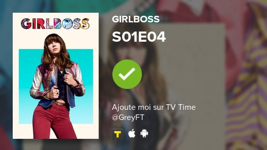 toujours plus  S01E04 of Girlboss! #girlboss   https:// tvtime.onelink.me/3966595826?af_ dp=tvst%3A%2F%2Fshow%2F322246%2Fepisode%2F5963273%2Fdetail&af_web_dp=https%3A%2F%2Fwww.tvtime.com%2Fshow%2F322246%2Fepisode%2F5963273&campaign_id=322246&referrer_id=5239607&source=auto-tweet&pid=Twitter&c=auto-share   …  #tvtimepic.twitter.com/P5E5jJSNZZ