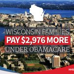 #Wisconsin families pay nearly $3,000 more for #Obamacare plans than they did just 4 years ago.