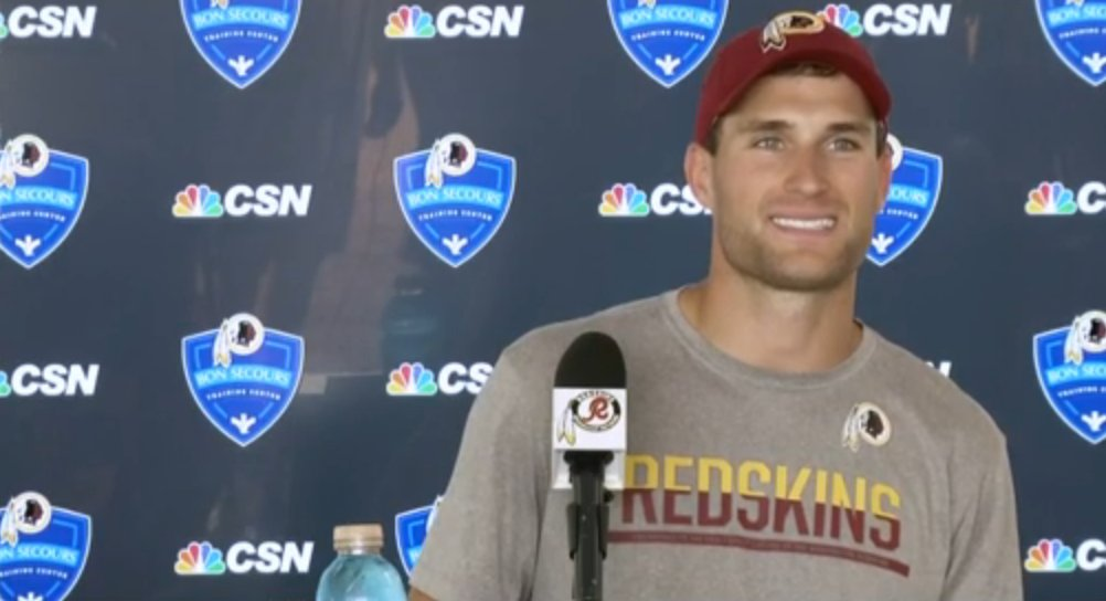 .@Redskins QB Kirk Cousins is LIVE at the podium on NFL Network