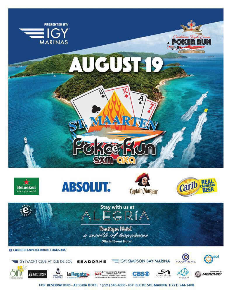 @Alegria_SXM the official event hotel for the Caribbean Triple Crown Poker Run, August 19th 2017! #sxm #alegriaboutiquehotel #boaters #fun