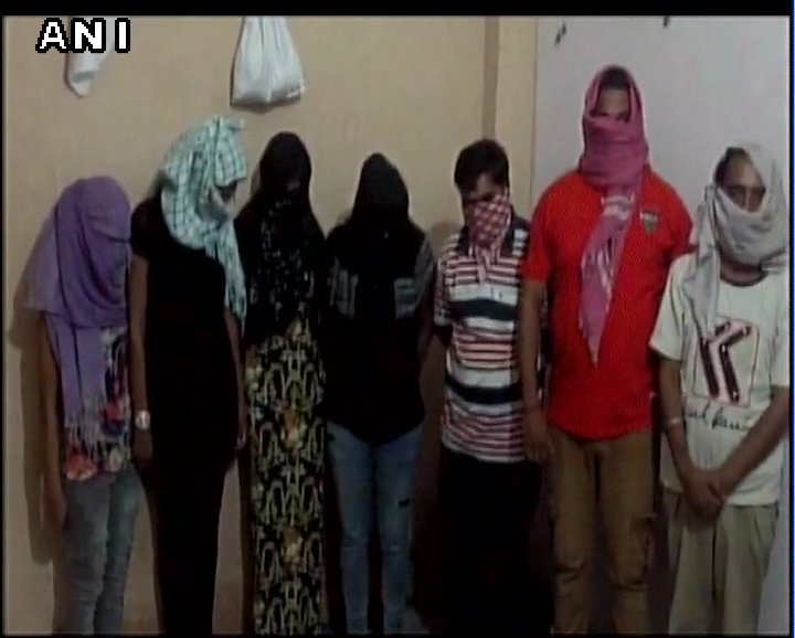 13 people including 9 girls arrested for running sex rackets at two different spas in Haryana's Gurugram. Cases registered.