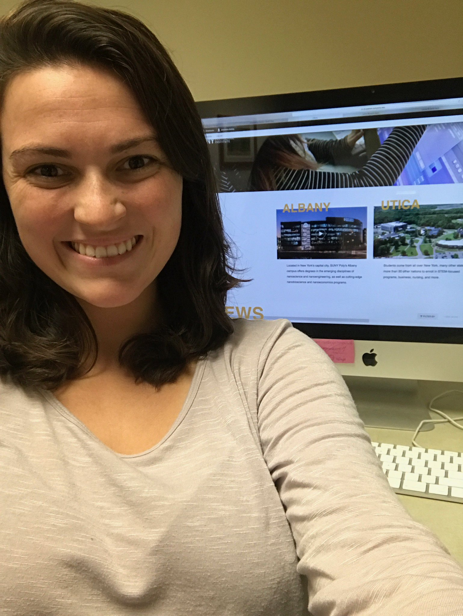 Thank you, Shannon Tooley for your hard work helping to get our site ready for a relaunch! #comingsoon #sunypolywebsitelaunch #SUNYInternDay https://t.co/ukhYfjH5vZ