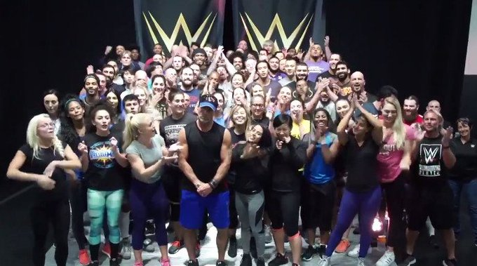 A very good happy birthday video to Triple H from NXT, Shawn Michaels