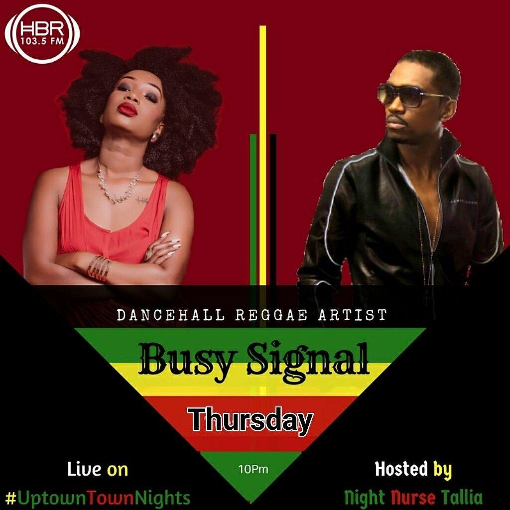 Ital Tallia Black whos tuning in tonight? #uptownnights on @HomeboyzRadio With @busysignal_turf in studio https://t.co/gjZJg1CRhA