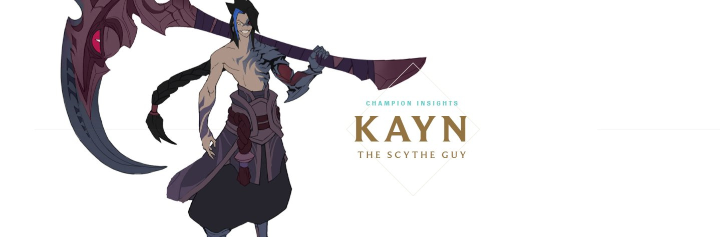 Moobeat On Twitter Champion Insights Kayn The Scythe Guy Https T Co Bplfrjlew2
