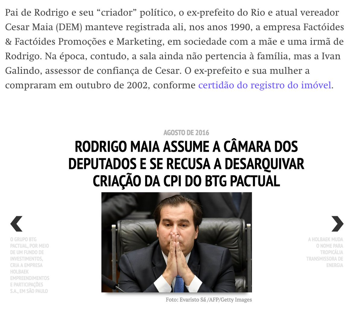 Intercept: Rodrigo Maia é dono de escritório usado pelos grupos Odebrecht e BTG Pactual https://t.co/Xlzm9tkQh0