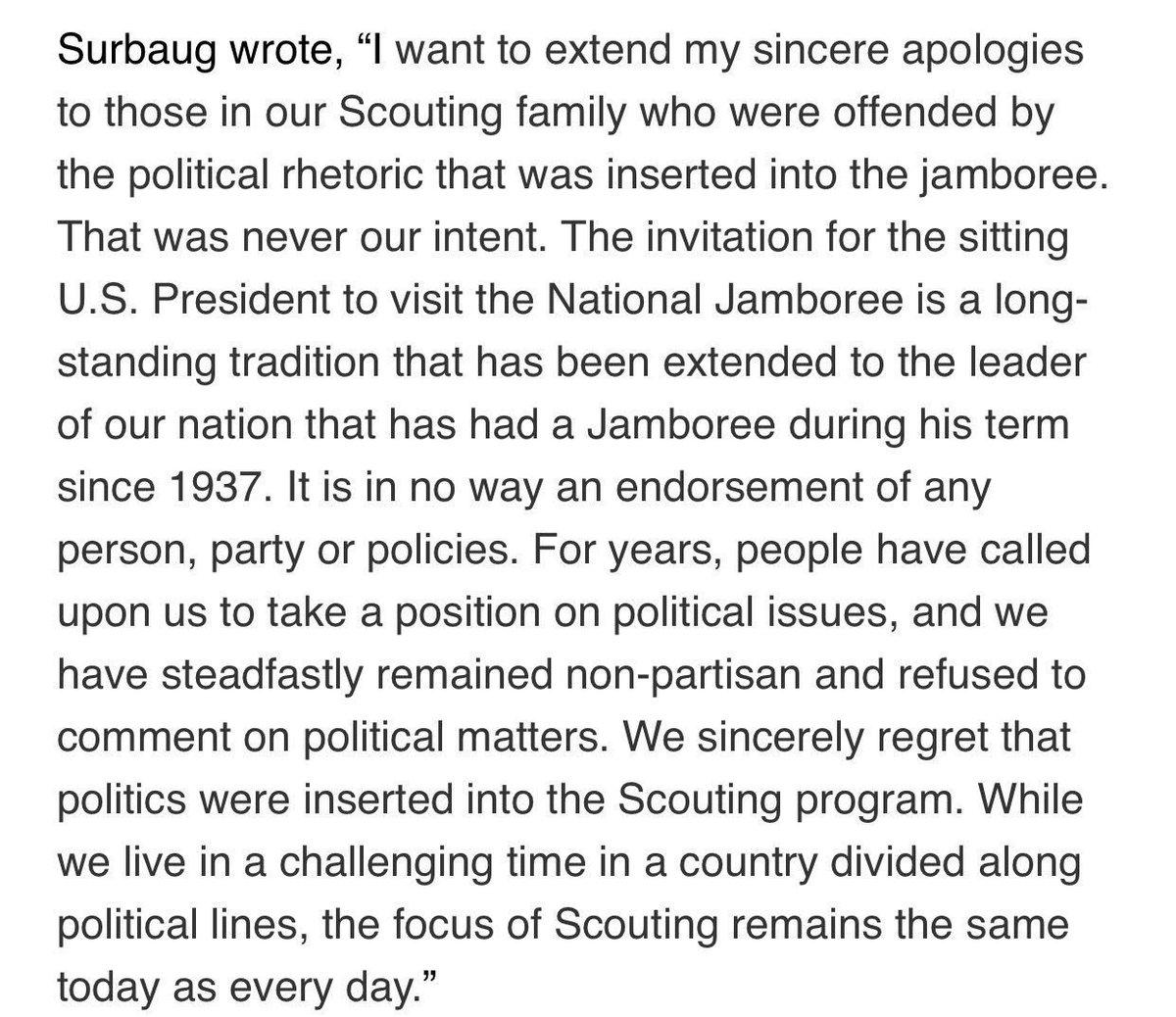 Boy Scouts 1 Trump          0  H/T @jimsciutto