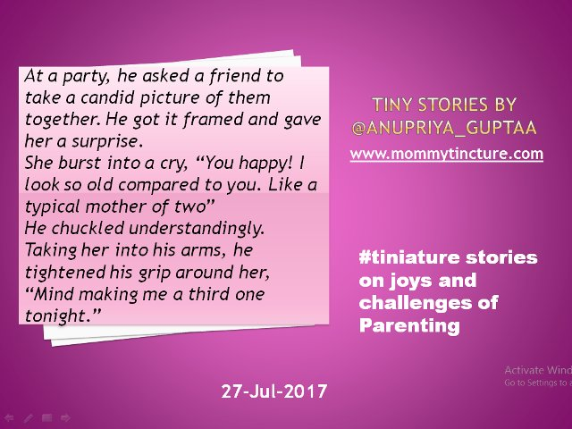 @gayatri_gadre @romspeaks @foodietweeter @Ishieta @sujitrukhsat @Mayuri6 @nehatambe @twinklingtina @NatsCosmicrain #Tiniature #TinyStory  A tale of a mother  #motherhood #momlife https://t.co/BZmx51Yd5R