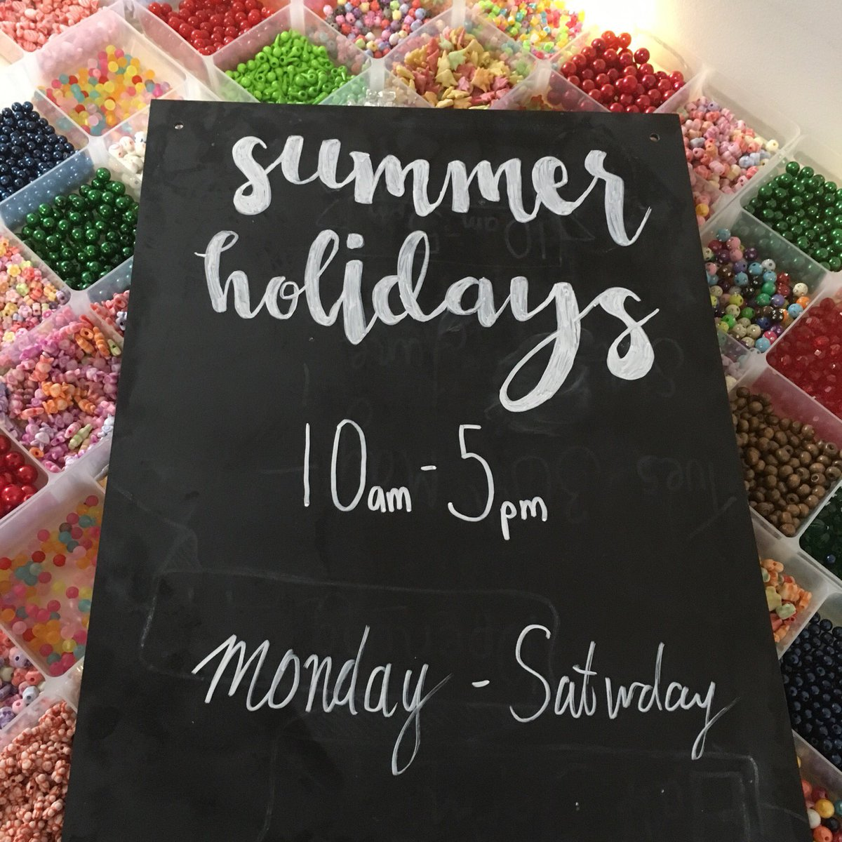 School holidays = Rainy days  Bead Bar open 10-5 Mon-Sat with a FREE cuppa!! #kids #craft #jewellery #bead #harrogate<br>http://pic.twitter.com/sr9nKHWxSx