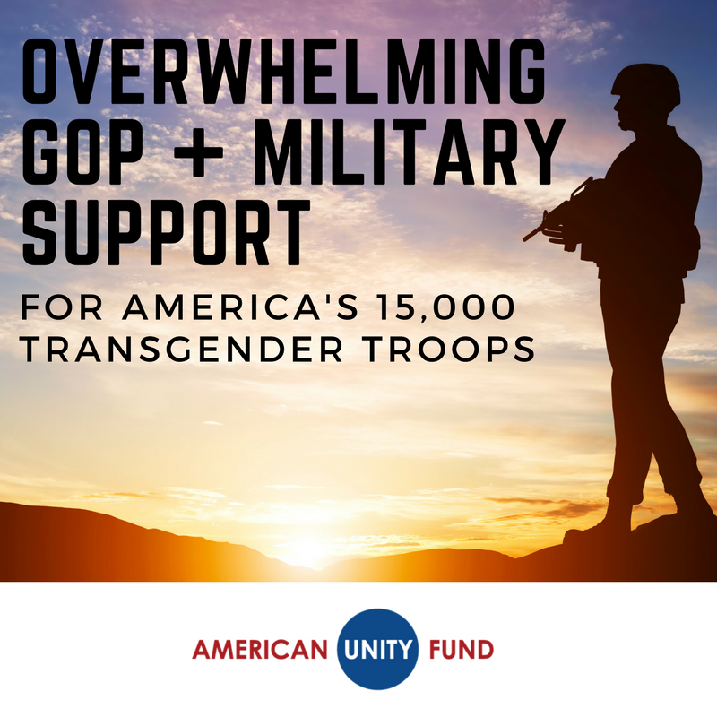 GOP + military leaders are standing up for the #trans Americans serving in the U.S. military. Read their statements:  http:// americanunityfund.com/press-releases /overwhelming-gop-military-leaders-push-back-trumps-tweets/ &nbsp; … <br>http://pic.twitter.com/K0N45XS9R8