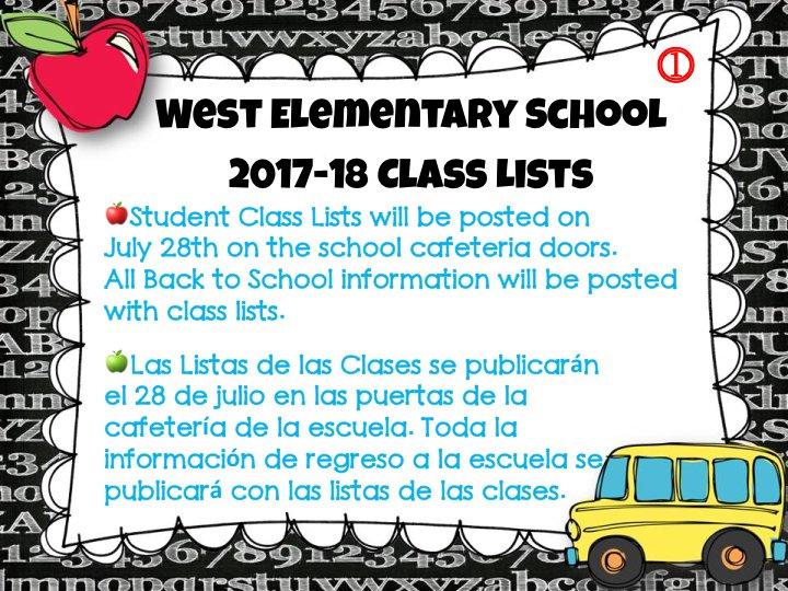 WES #Back2School Class List Information <br>http://pic.twitter.com/P6DJCJPu1Z