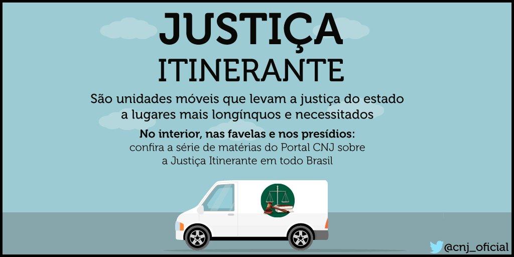 #JustiçaItinerante leva a justiça até o cidadão que não tem condições ou não sabe como ir atrás dos seus #direitos!