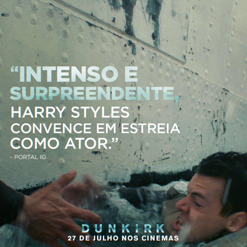 '@Harry_Styles convence em estreia como ator.' Assista a #DunkirkFilme hoje nos cinemas. Ingressos: https://t.co/HUqxZHjVLj