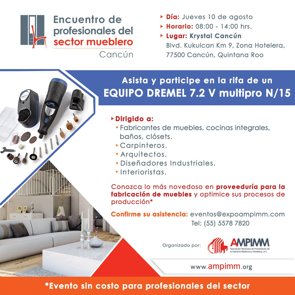 Ampimm On Twitter Asiste Sin Costo Al Encuentro De Profesionales  # Muebles Kukulkan