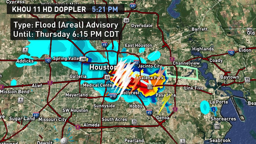 Heads Up! Street flooding on the east side and the east 610 loop @ Clinton. #KHOU11 #Houston #Weather