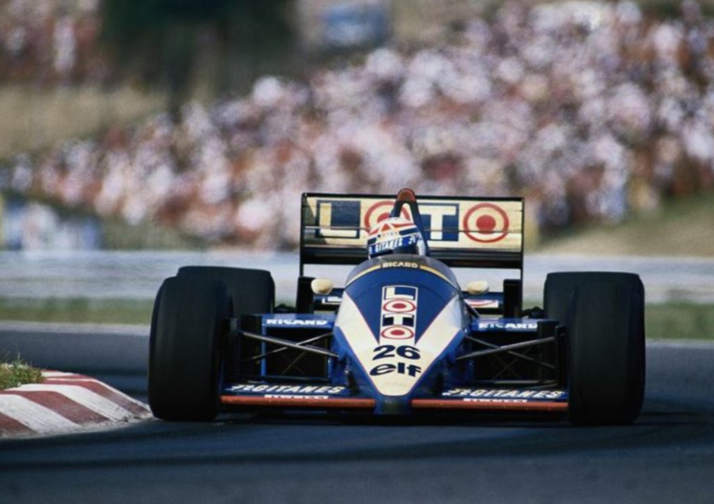 Philippe Alliot in Ligier equaled his #F1 best to date of 9th at Hungaroring. #OTD 1986 #HungarianGP (Photo via @DGonige) https://t.co/L1Ai4hNEeu